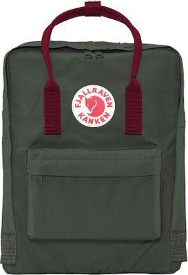 Fjallraven Kanken Backpack Forest Green-Ox Red - Fjallraven Everyday Backpacks