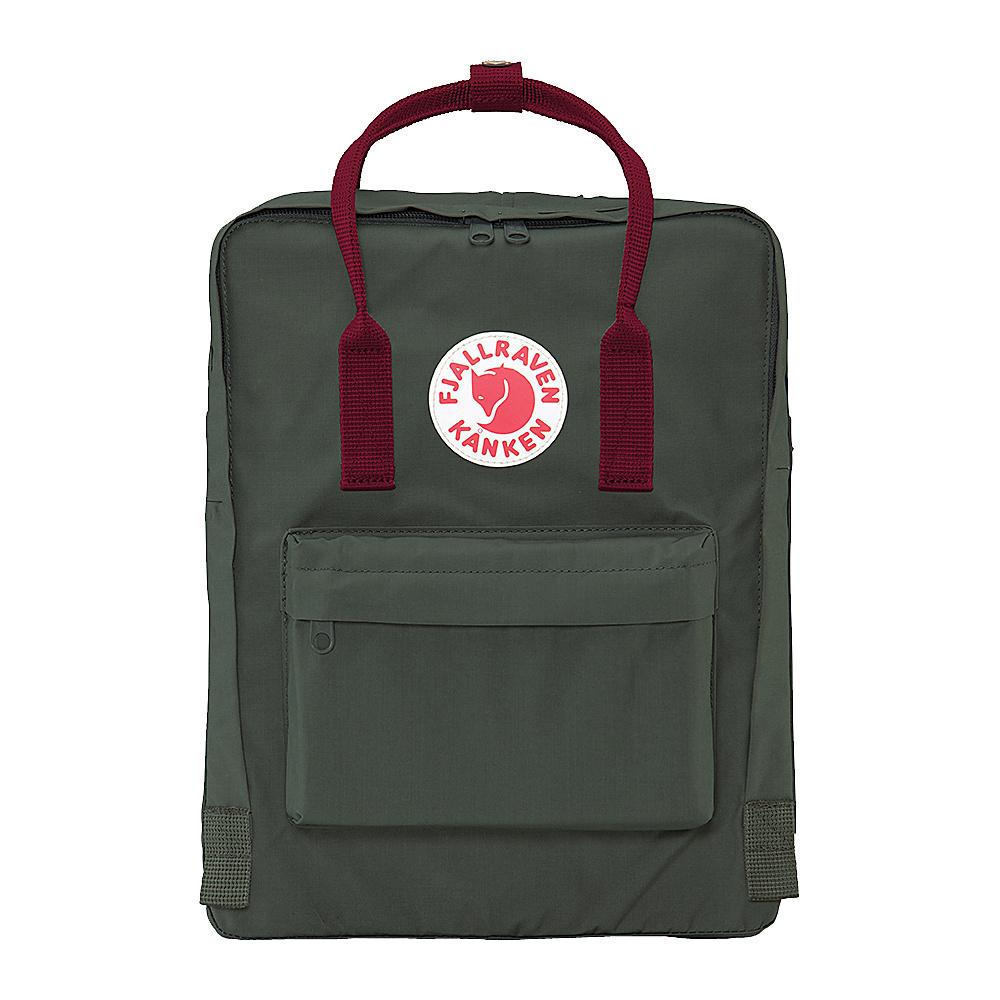 Fjallraven Kanken Backpack Forest Green-Ox Red - Fjallraven Everyday Backpacks - Backpacks, Everyday Backpacks
