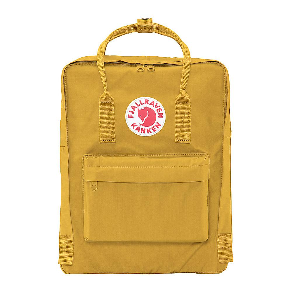 Fjallraven Kanken Backpack Ochre Fjallraven Everyday Backpacks
