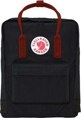 Fjallraven Kanken Backpack Black-Ox Red - Fjallraven Everyday Backpacks
