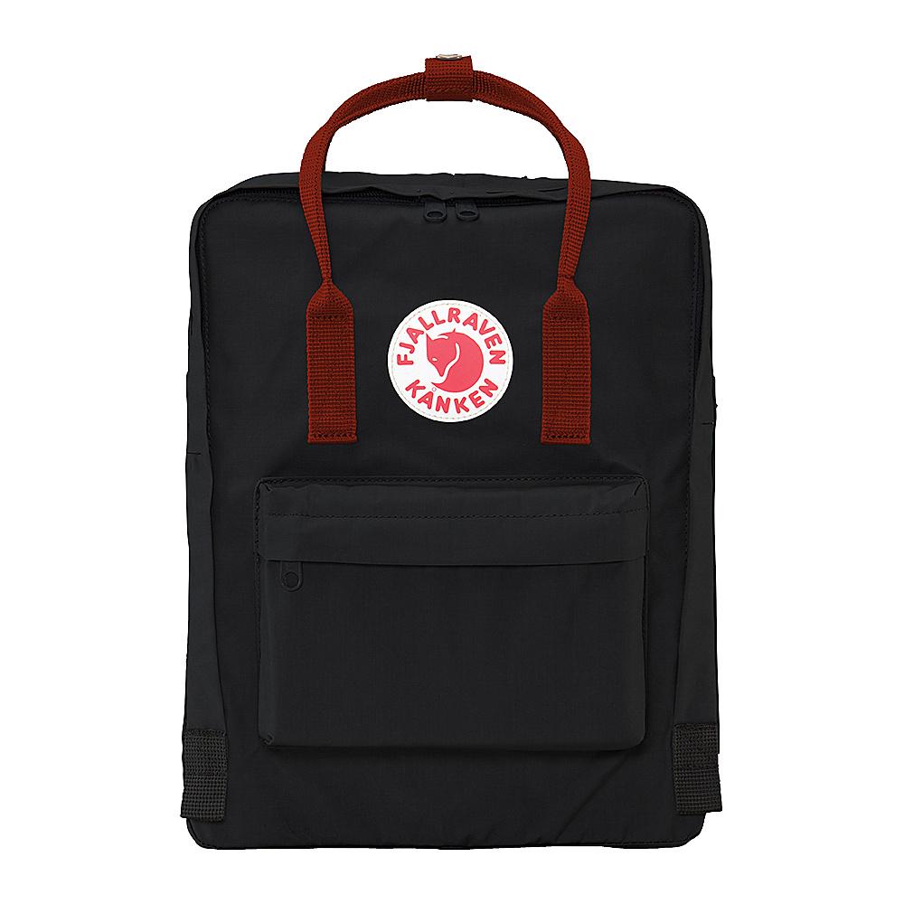 Fjallraven Kanken Backpack Black-Ox Red - Fjallraven Everyday Backpacks - Backpacks, Everyday Backpacks