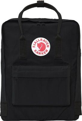 Fjallraven Kanken Backpack Black - Fjallraven Everyday Backpacks