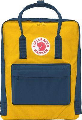 Fjallraven Kanken Backpack Navy-Warm Yellow - Fjallraven Everyday Backpacks