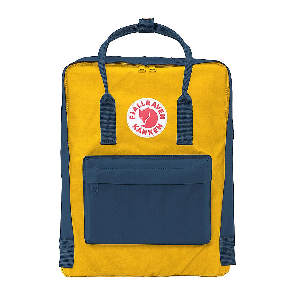 Fjallraven Kanken Backpack Navy-Warm Yellow - Fjallraven Everyday Backpacks - Backpacks, Everyday Backpacks