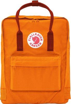 Fjallraven Kanken Backpack Burnt Orange-Deep Red - Fjallraven Everyday Backpacks