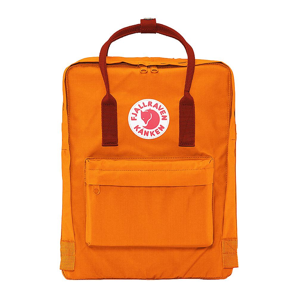 Fjallraven Kanken Backpack Burnt Orange-Deep Red - Fjallraven Everyday Backpacks - Backpacks, Everyday Backpacks