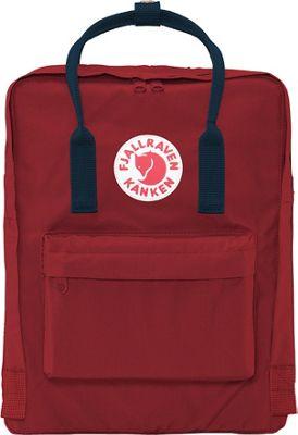 Fjallraven Kanken Backpack Ox Red-Royal Blue - Fjallraven Everyday Backpacks