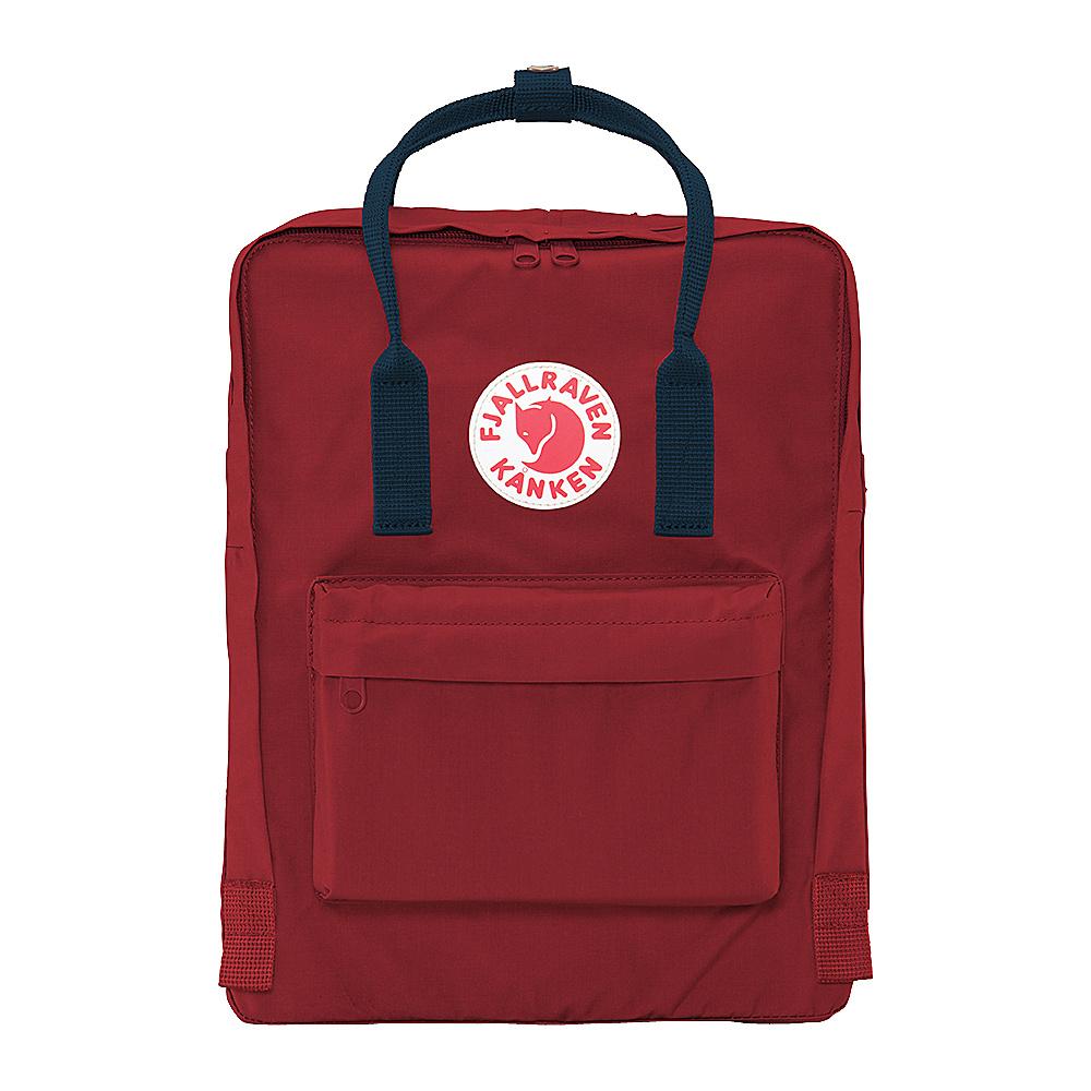 Fjallraven Kanken Backpack Ox Red Royal Blue Fjallraven Everyday Backpacks