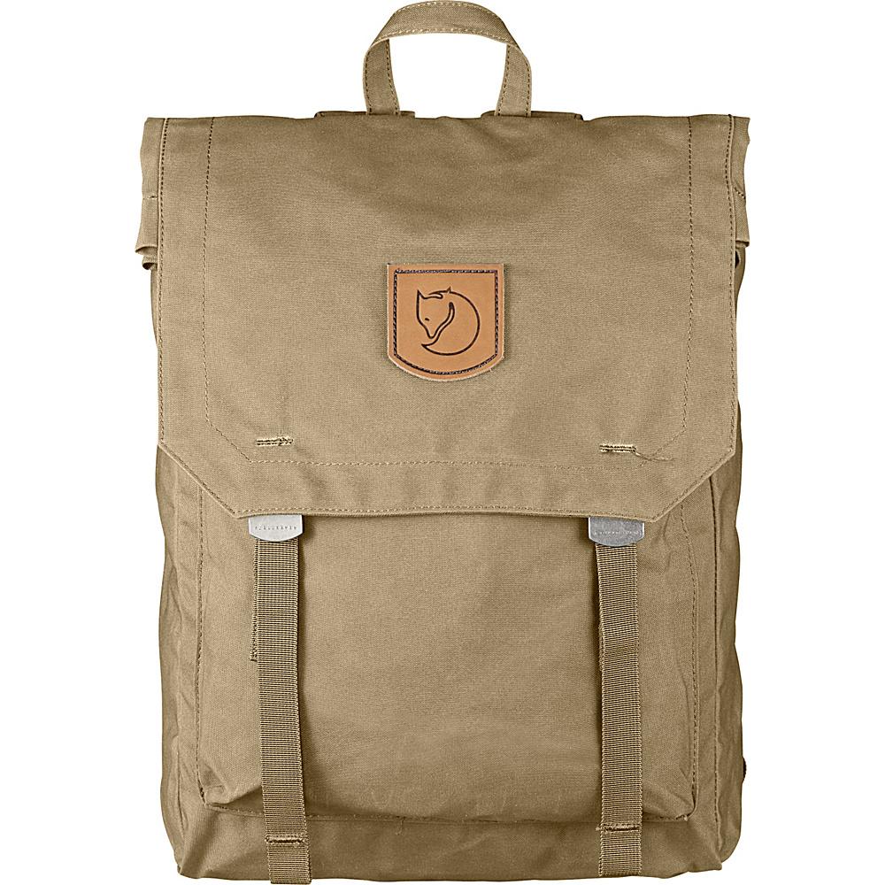 Fjallraven Foldsack No.1 Backpack Sand - Fjallraven Everyday Backpacks - Backpacks, Everyday Backpacks