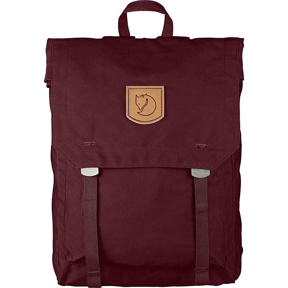 Fjallraven Foldsack No.1 Backpack Dark Garnet - Fjallraven Everyday Backpacks - Backpacks, Everyday Backpacks