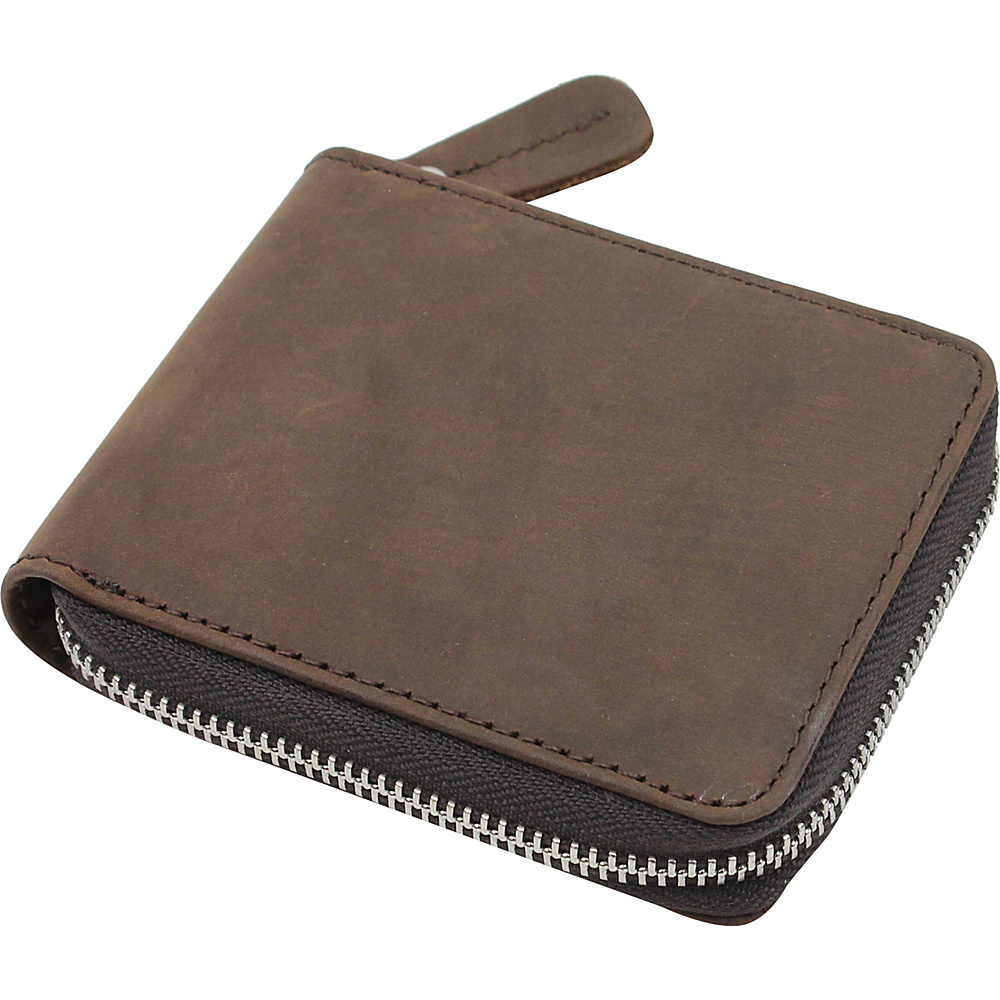 Vagabond Traveler Leather Zipper Wallet Distress - Vagabond Traveler Mens Wallets - Work Bags & Briefcases, Men's Wallets