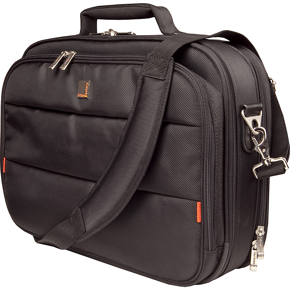 Urban Factory City Classic Case 15.6 with Document Compartment Black Urban Factory Non Wheeled Business Cases