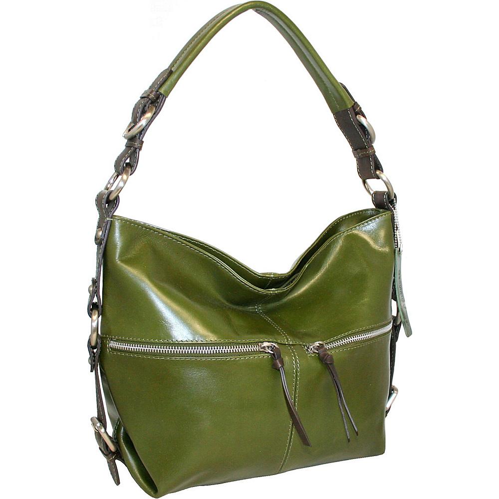 Nino Bossi Suddenly Hobo Khaki Nino Bossi Leather Handbags