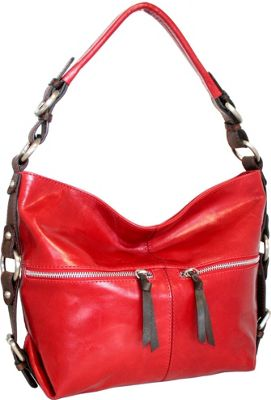 Nino Bossi Suddenly Hobo Red - Nino Bossi Leather Handbags