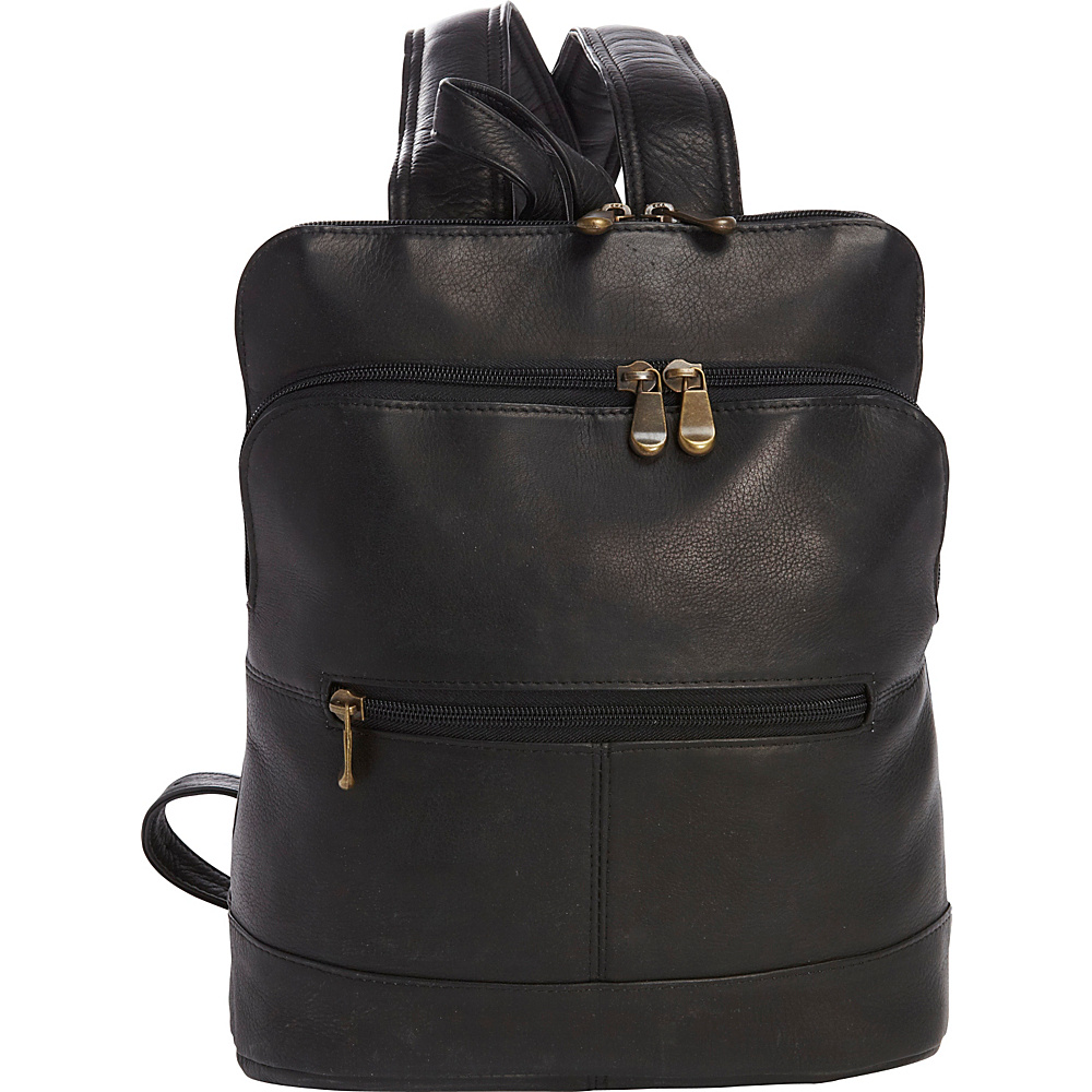 Le Donne Leather Riverwalk Womens Backpack Black - Le Donne Leather Leather Handbags - Handbags, Leather Handbags