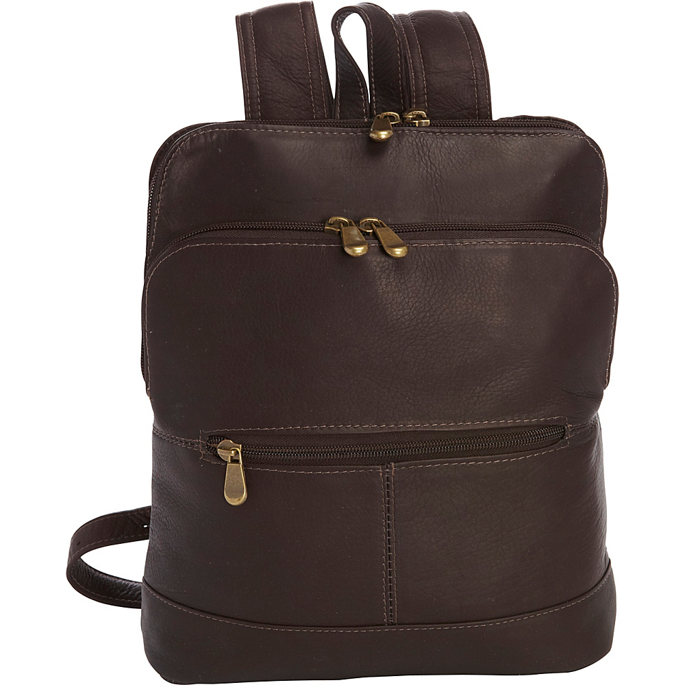 Le Donne Leather Riverwalk Womens Backpack Cafe - Le Donne Leather Leather Handbags - Handbags, Leather Handbags