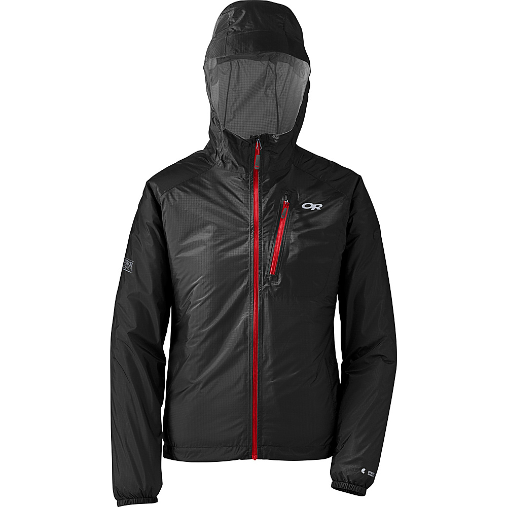 Outdoor Research Womens Helium II Jacket XS - Black/Flame - Outdoor Research Womens Apparel - Apparel & Footwear, Women's Apparel