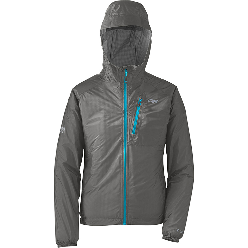Outdoor Research Womens Helium II Jacket S - Pewter/Rio - Outdoor Research Womens Apparel - Apparel & Footwear, Women's Apparel