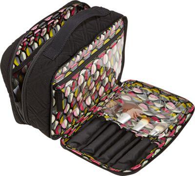 Vera Bradley Large Blush & Brush Makeup Case - Solids Hawthorn Rose - Vera Bradley Toiletry Kits