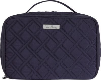 Vera Bradley Large Blush & Brush Makeup Case - Solids Classic Navy - Vera Bradley Toiletry Kits