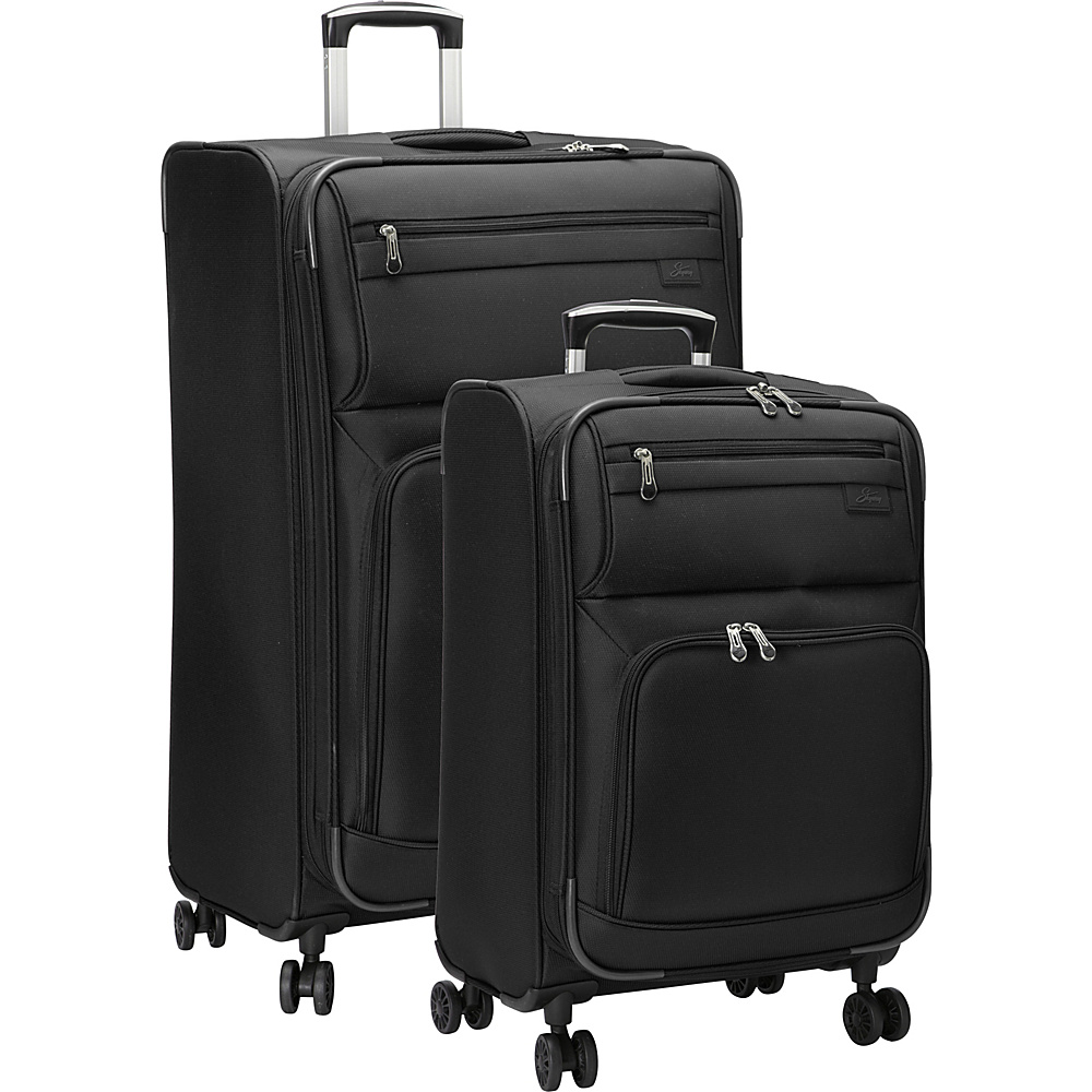 Skyway Sigma 5.0 2 Piece Luggage Set Black Skyway Luggage Sets