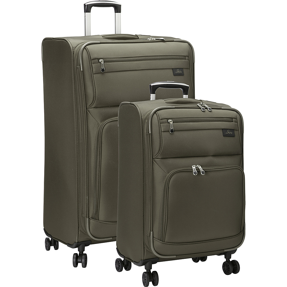 Skyway Sigma 5.0 2 Piece Luggage Set Forest Green Skyway Luggage Sets