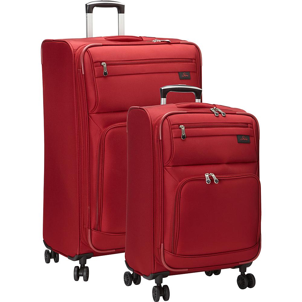 Skyway Sigma 5.0 2 Piece Luggage Set Merlot Red - Skyway Luggage Sets