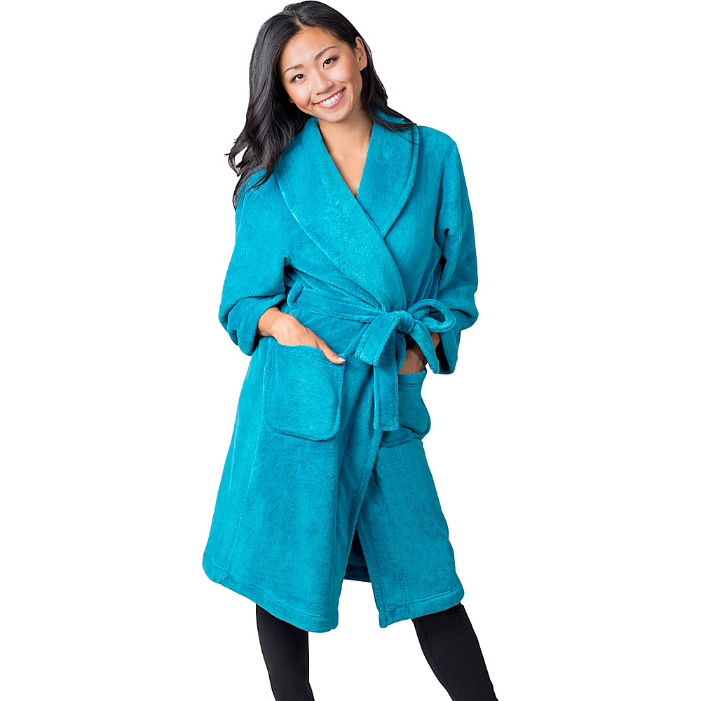 Soybu Fleece Spa Robe L XL Caribbean Soybu Women s Apparel