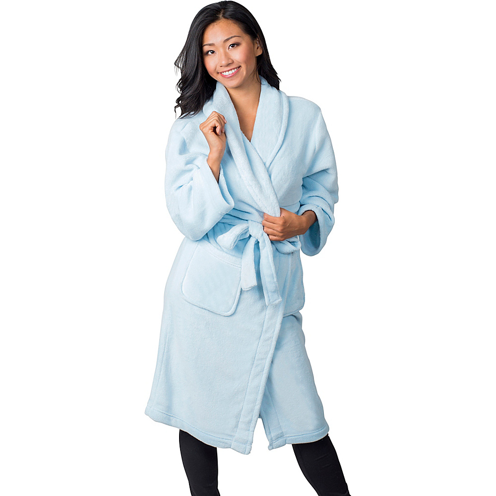 Soybu Fleece Spa Robe S M Reef Blue Soybu Women s Apparel