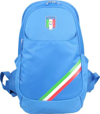 Federazione Italiana Giuoco Calcio Backpack Horizontal Stripe Blue - Federazione Italiana Giuoco Calcio Business & Laptop Backpacks