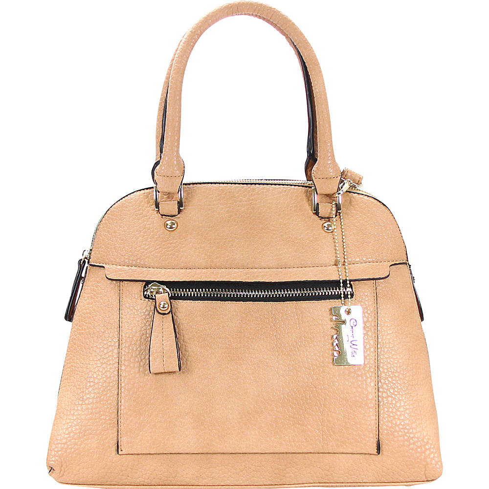 Chasse Wells Porter Tote Tan Camel Chasse Wells Manmade Handbags