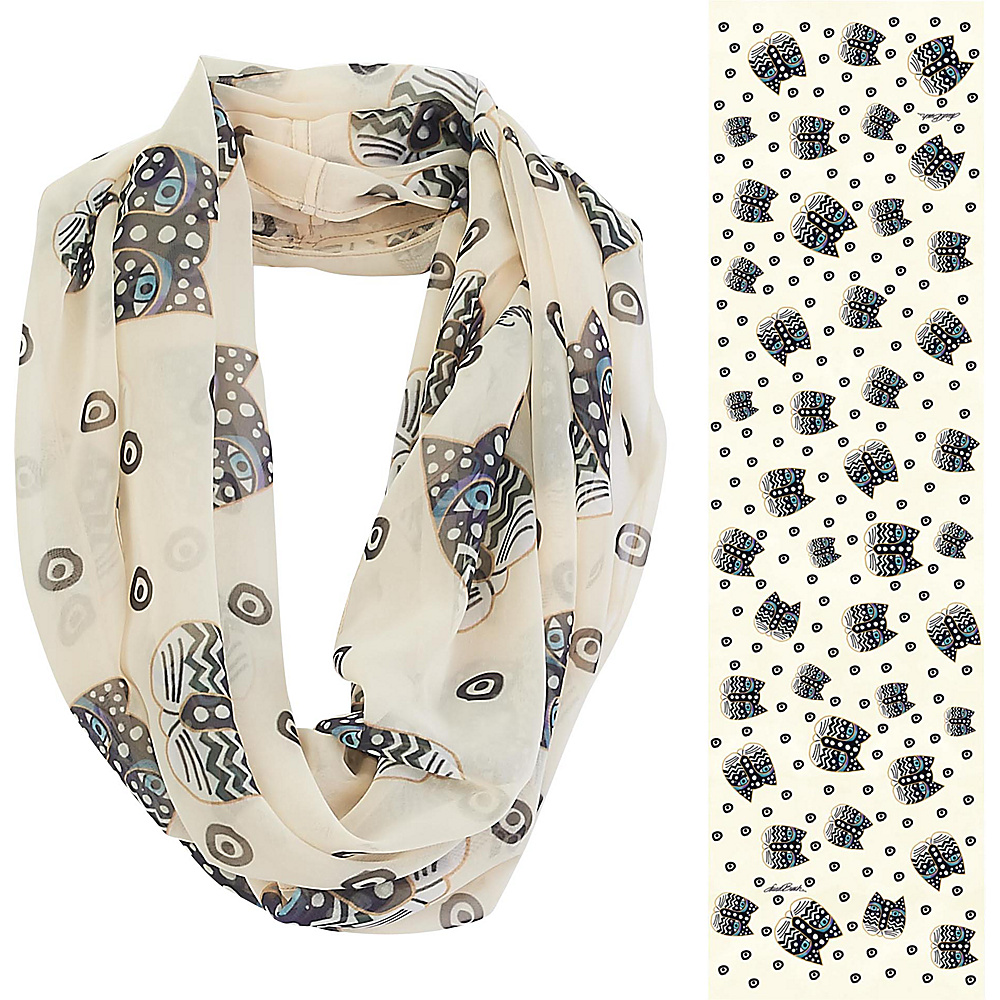 Laurel Burch Infinity Scarf Polka Dot Gatos Laurel Burch Hats Gloves Scarves