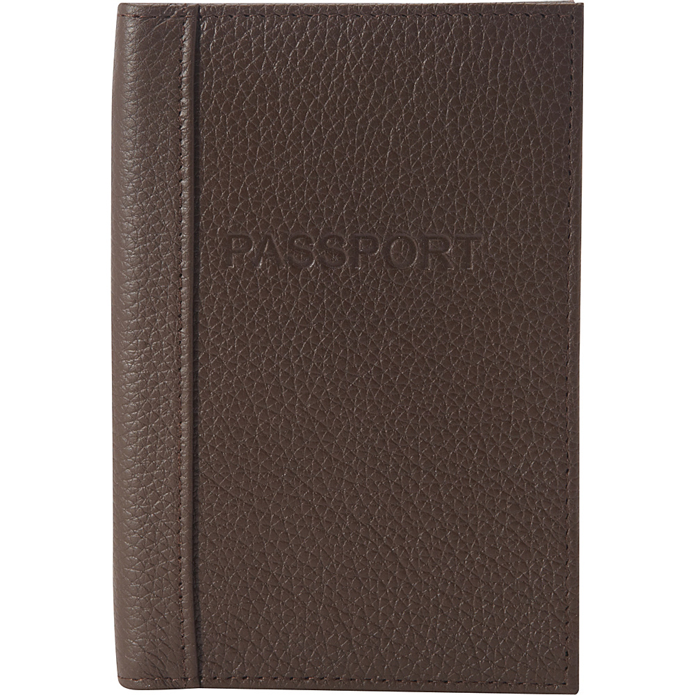 Buxton Hudson Pik-Me-Up RFID Passport Case Chocolate Brown - Buxton Travel Wallets - Travel Accessories, Travel Wallets