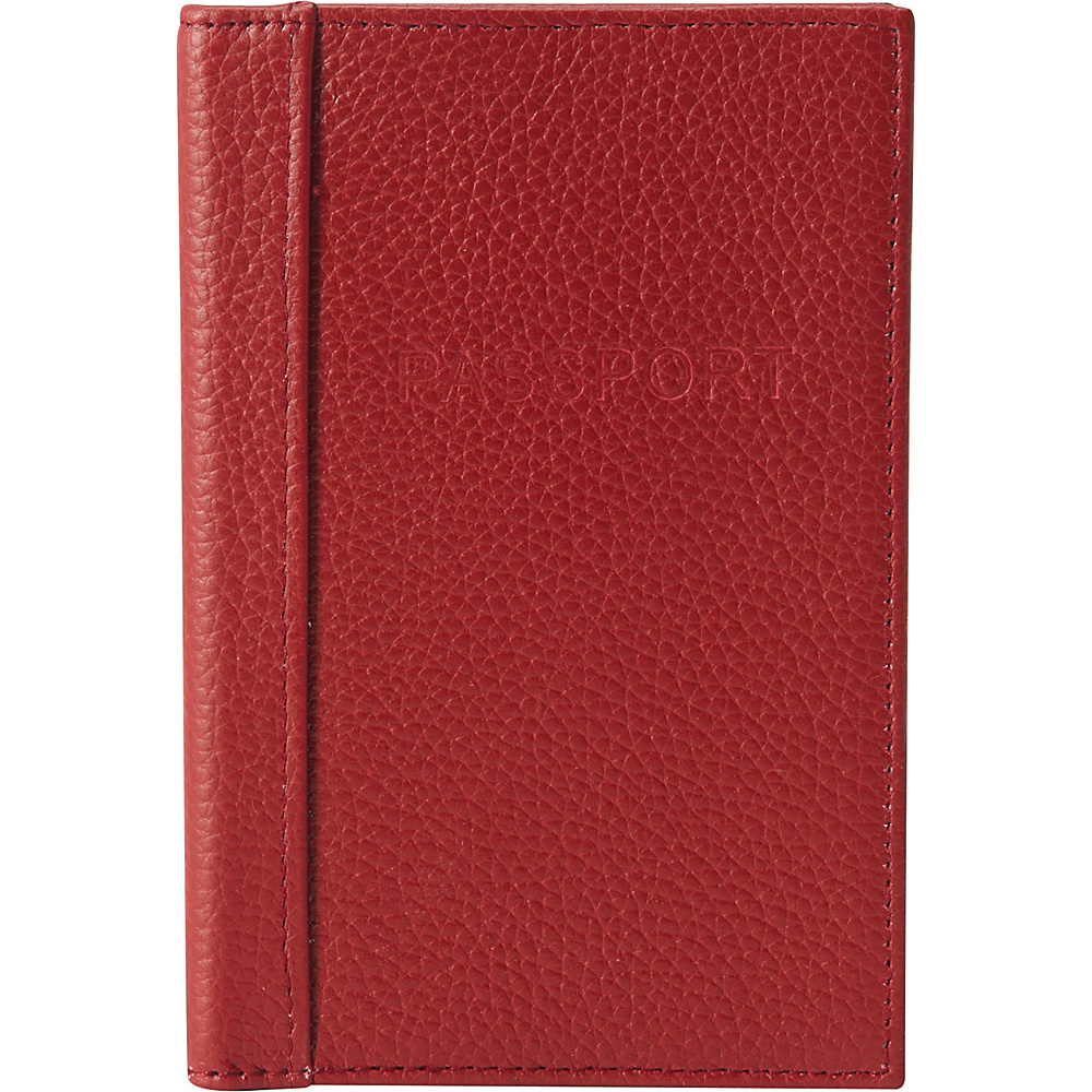 Buxton Hudson Pik-Me-Up RFID Passport Case Dark Red - Buxton Travel Wallets - Travel Accessories, Travel Wallets