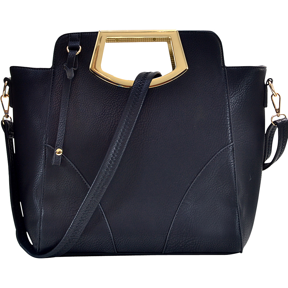 Dasein Winged Tote Black - Dasein Manmade Handbags - Handbags, Manmade Handbags