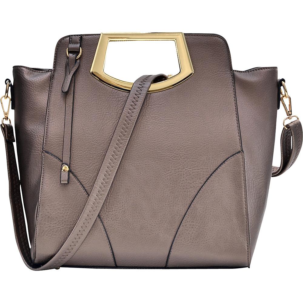 Dasein Winged Tote Silver - Dasein Manmade Handbags - Handbags, Manmade Handbags