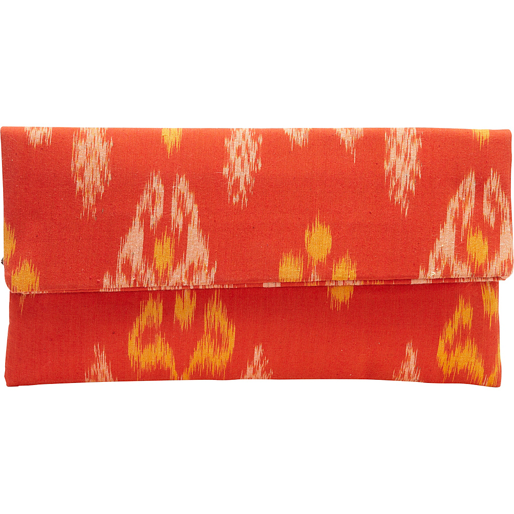 TLC you Indah Clutch Orange Yellow TLC you Fabric Handbags