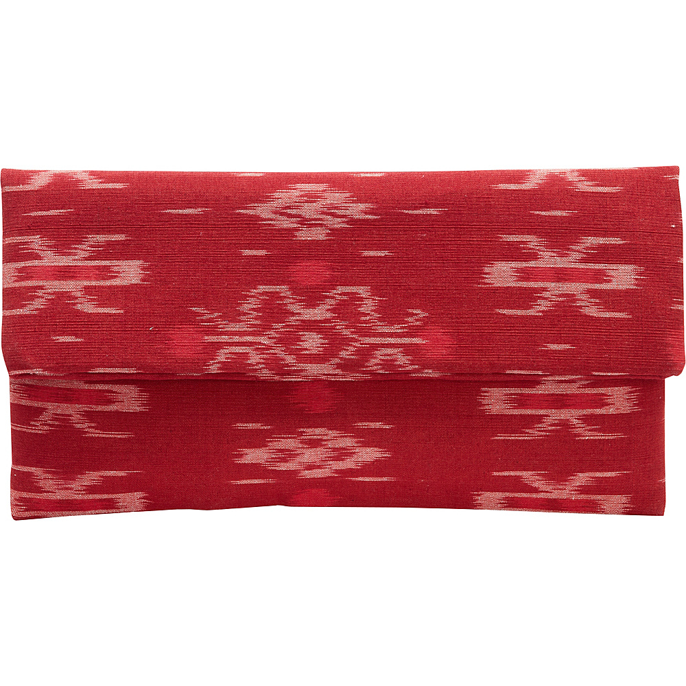 TLC you Indah Clutch Red TLC you Fabric Handbags