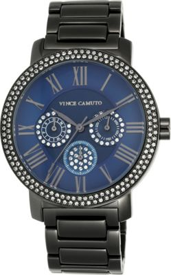Vince Camuto Watches Women's Crystal Multifunction Bracelet Watch Gunmetal - Vince Camuto Watches Watches