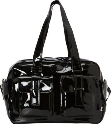 OiOi Black Patent Carry-All Black - OiOi Diaper Bags & Accessories