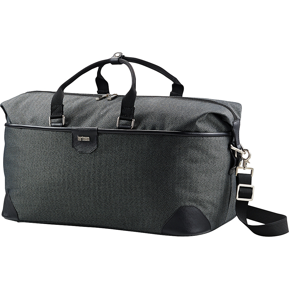 Hartmann Luggage Herringbone Luxe Softside Weekend Duffel Black Herringbone Hartmann Luggage Rolling Duffels
