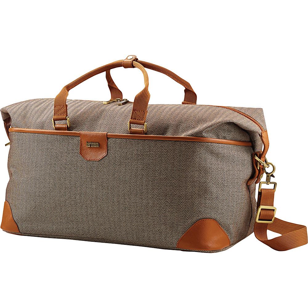 Hartmann Luggage Herringbone Luxe Softside Weekend Duffel TerraCotta Herringbone Hartmann Luggage Rolling Duffels
