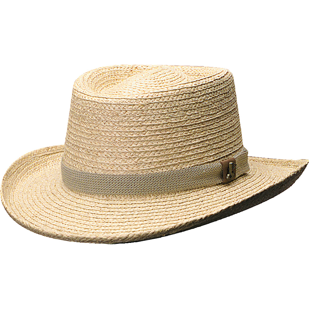 Scala Hats Raffia Gambler Natural - Small/Medium - Scala Hats Hats
