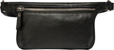 Vicenzo Leather Arlette Leather Waistpack Black - Vicenzo Leather Designer Handbags