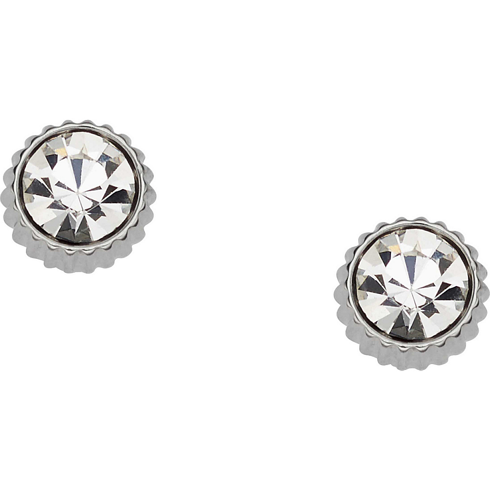 Fossil Glitz Coin Edge Studs Silver - Fossil Other Fashion Accessories - Fashion Accessories, Other Fashion Accessories