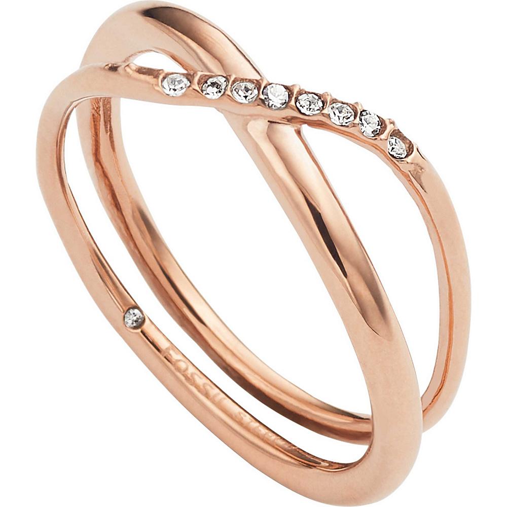 Fossil Glitz Twist Ring Rose Gold - Size 8 - Fossil Other Fashion Accessories - Fashion Accessories, Other Fashion Accessories