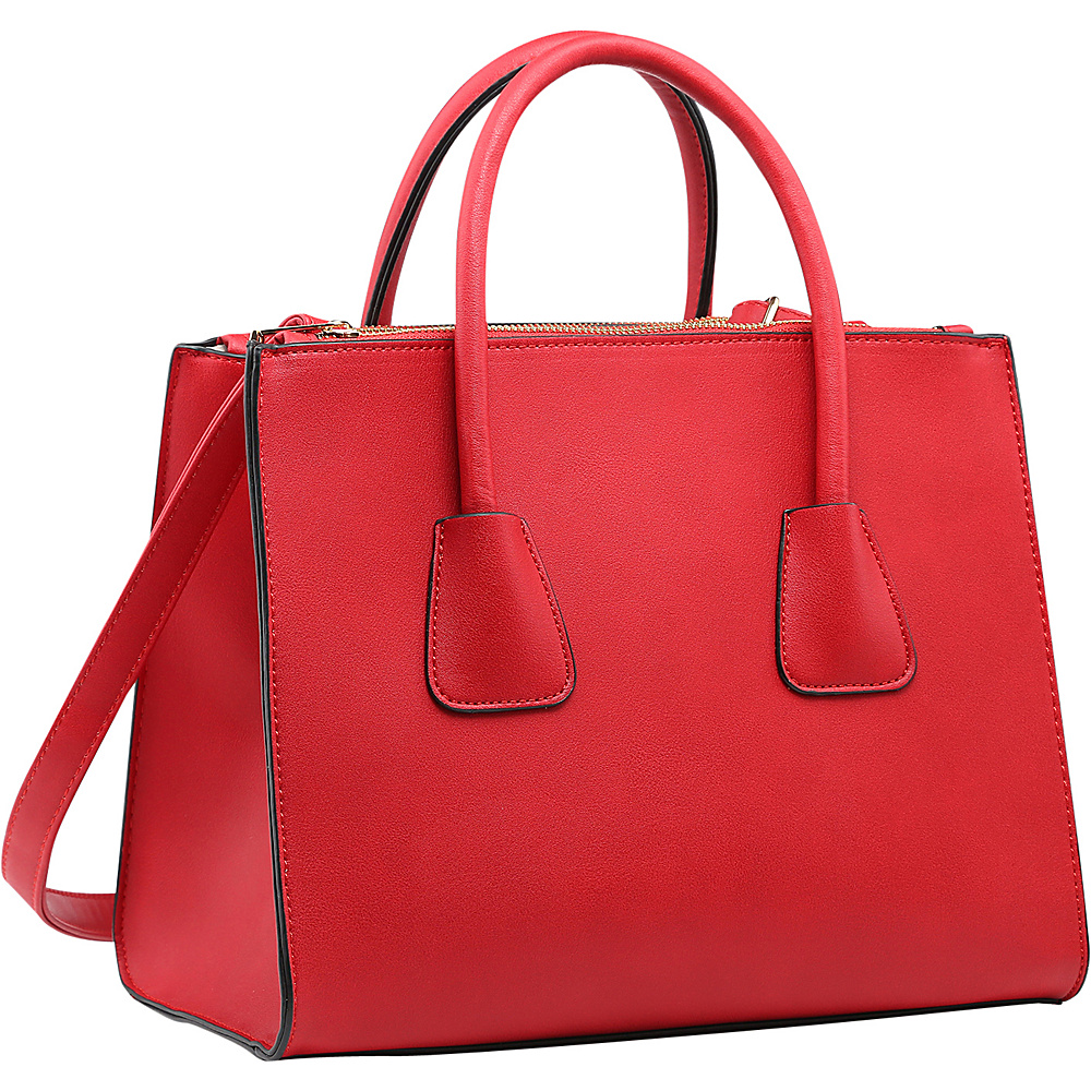 Dasein Winged Satchel with Double Zipper Pockets Red - Dasein Gym Bags - Sports, Gym Bags