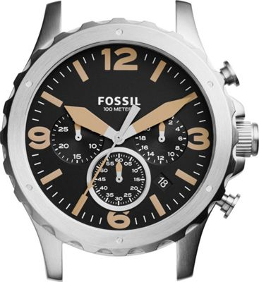 Fossil Nate Chronograph Stainless Steel 22mm Case Silver ...