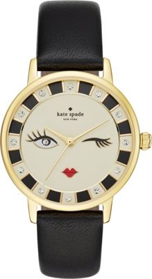 kate spade watches Leather Metro Watch Black - kate spade watches Watches