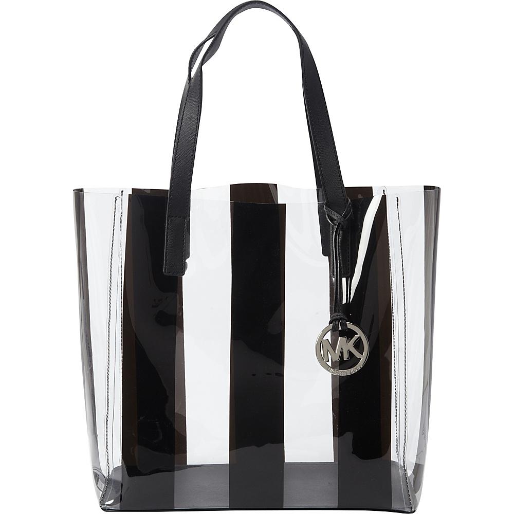 Michael Kors Eliza Medium Tote Clear Black Designer Handbags